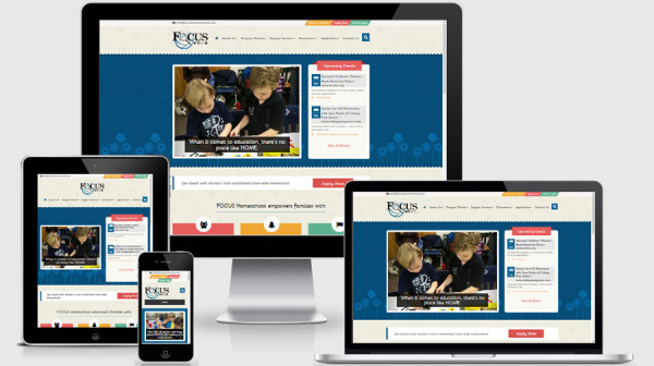 focus school website bootstrap responsive